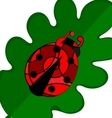 abstract large ladybug vector image vector image