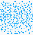 abstract triangle blue background vector image vector image