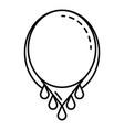 beauty necklace icon outline style vector image