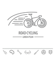 Bicycle thin line design logo template vector image vector image