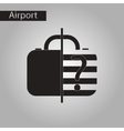 black and white style icon x-ray baggage vector image vector image