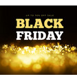 black friday with gold sparkles vector image