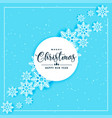 blue snowflakes background for christmas and vector image