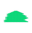 brick wall in cyan design vector image