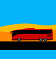 bus travel to far corners world vector image vector image