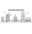 california sacramento architecture line skylin vector image vector image