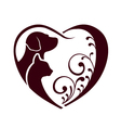 Cat dog love heart vector | Price: 1 Credit (USD $1)
