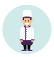 cheerful chef cook in uniform and hat profession vector image vector image
