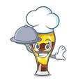 chef with food mangonada fruit mascot cartoon vector image vector image