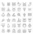 christmas ornaments icon set editable stroke vector image vector image