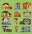 city town house facade face side street vector image vector image