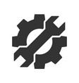 cogwheel with wrench icon vector image vector image