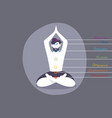 color chakras with man vector image vector image