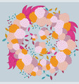 colorful hand- drawn floral pattern vector image vector image