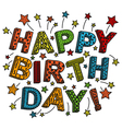 Colorful happy birthday card vector image vector image