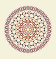 colorful mosaic mandala vector image vector image