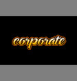 corporate word text banner postcard logo icon vector image vector image
