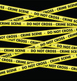 crime scene tape background vector image