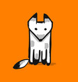 cute fox character sketch for your design vector image vector image