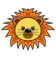 cute lion cute animal faces vector image