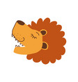 cute lion head side view design element can be vector image