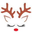 cute reindeer- christmas design vector image vector image