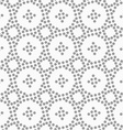Dotted circles and small crosses vector image