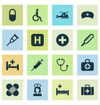 drug icons set collection of tent peck nanny vector image vector image
