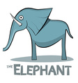 Elephant Cartoon - on White Background vector image