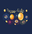 festive spring card for easter with eggs and vector image vector image