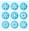 Flat Snowflake Icons vector image