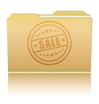 Folder with Sale damaged stamp vector image vector image