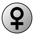 Gender female symbol button vector image vector image