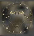Golden bow and arrow zodiac Sagittarius sign vector image