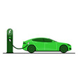 green electric car vector image vector image