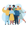 group of people standing together vector image vector image