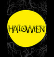 halloween background with a moon a ghost vector image vector image
