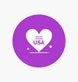 heart love american usa vector image vector image