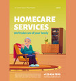 homecare services poster home care for elders vector image