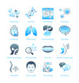 hospital icons - marine series vector image vector image
