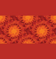 hot folk style abstract sun seamless pattern vector image vector image