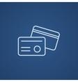 Identification card line icon vector image vector image