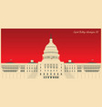 image us capitol building in washington dc vector image