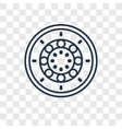 industrial tread concept linear icon isolated on vector image