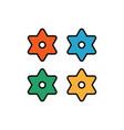 japanese shuriken colour icon colours japanese vector image vector image