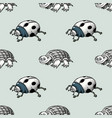 ladybug and turtle seamless pattern vector image