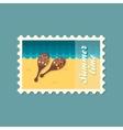 Maracas flat stamp vector image
