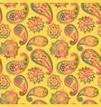 mehendy golden flower seamless pattern design vector image