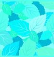 mint leaves seamless pattern floral vector image vector image