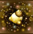 molecule structure golden icon vector image vector image